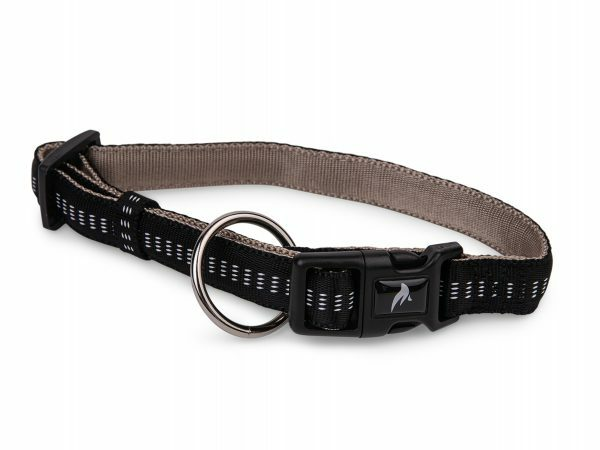 Halsband nylon Soft Grip zwart 30-45cmx20mm M