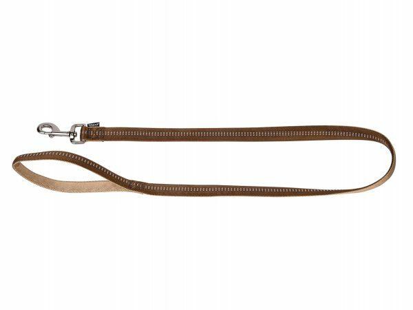 Leiband nylon Soft Grip bruin 120cmx20mm L