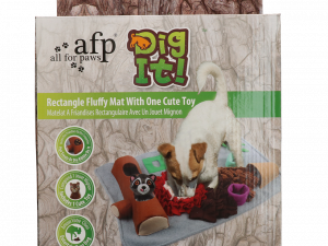 AFP Dig it - Rectangle Fluffy mat with cute toy