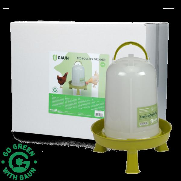 Pluimvee drinktoren 10 l Bio green lemon op pootjes