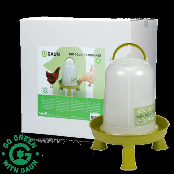 Pluimvee drinktoren 5 l Bio green lemon op pootjes
