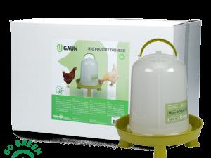 p24548  gaun11096 pluimvee drinktoren 8 l bio green lemon op pootjes 1