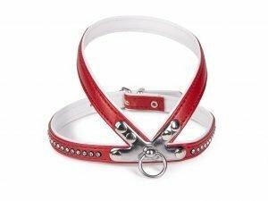 Harnas kunstleder Crystal rood 35cm S