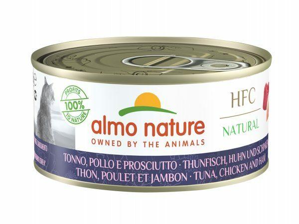 HFC Cats 150g Natural - Tonijn, kip en ham