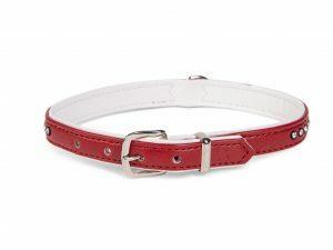 Halsband Crystal 1 rij rood 37cmx12-14mm S