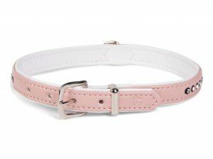 Halsband Crystal 1 rij roze 37cmx12-14mm S