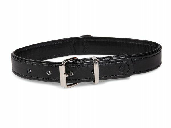 Halsband kunstleder Sunrise zwart 37cmx17-19mm S