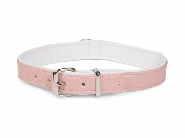 Halsband kunstleder Sunrise roze 27cmx12-14mm XS