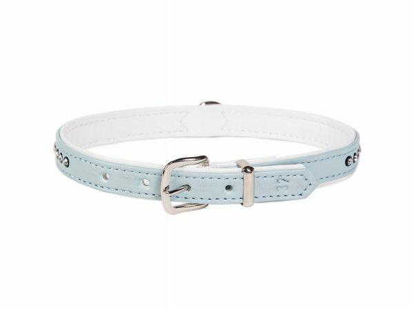 Halsband Crystal 1 rij lichtblauw 37cmx12-14mm S