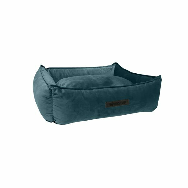 Wooff hondenmand Cocoon Velours Petrol 60x40x18cm