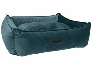 Wooff hondenmand Cocoon Velours Petrol 90x70x22cm
