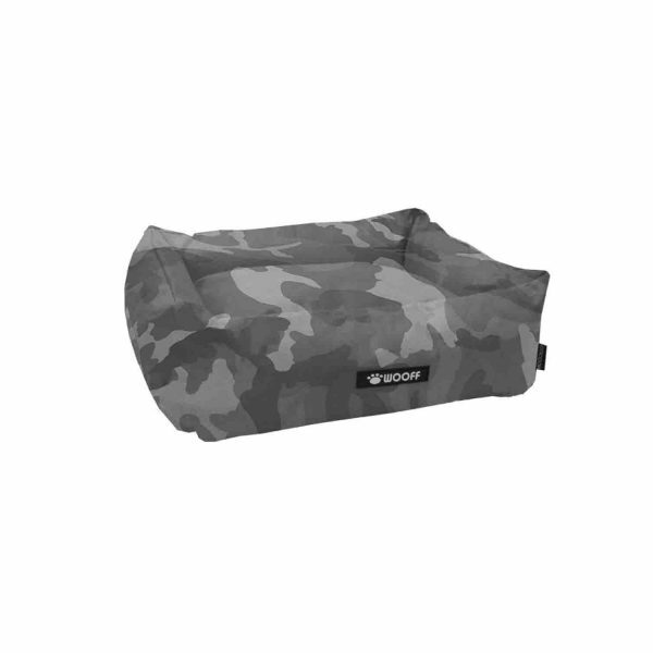 Wooff hondenmand Cocoon All Weather Camouflage grijs 70x60x20cm