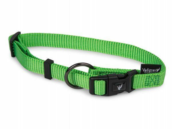 Halsband Classic Nylon groen 25-40cmx15mm S-M
