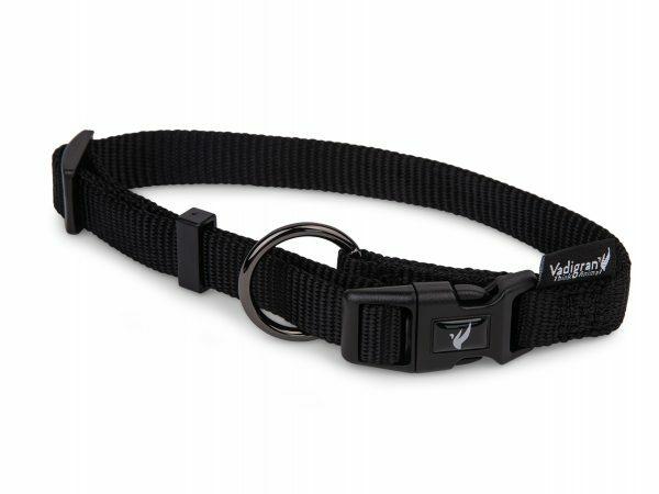 Halsband Classic Nylon zwart 14-21cmx10mm XS
