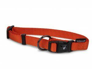 Halsband Classic Nylon oranje 25-40cmx15mm S-M
