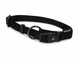 Halsband Classic Nylon zwart 40-57cmx20mm L