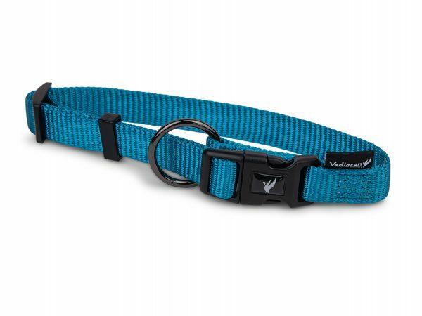 Halsband Classic Nylon turquoise 25-40cmx10mm S-M