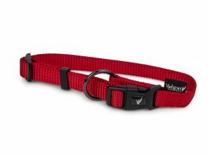Halsband Classic Nylon rood 25-40cmx15mm S-M