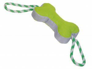 Speelgoed hond Robuste been met touw groen 56cm