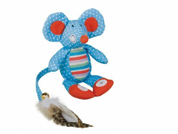 Speelgoed kat muis Mikky blauw 18cm