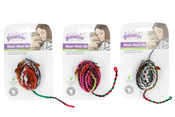 Pawise Meowmeow life - wool mouse