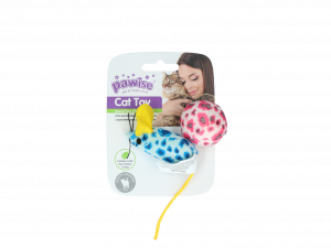 Pawise Cat Toy - Mice & Ball