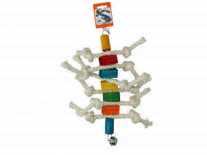 Birrdeeez Caterpillard Bird Toy (Wood & Rope)