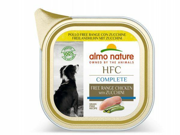 HFC Dogs 85g Complete Scharrelkip met courgette
