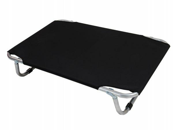 Bed aluminium zwart 115x75 cm