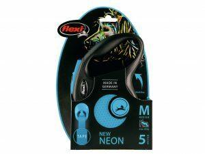 Flexi New Neon M (riem 5m) blauw