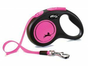 Flexi New Neon S (riem 5m) roze