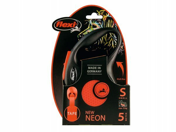Flexi New Neon S (riem 5m) oranje