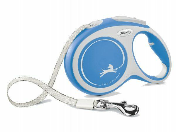 Flexi New Comfort L (riem 8m) blauw