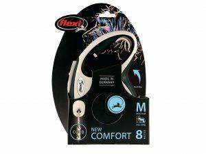 Flexi New Comfort M (koord 8m) zwart