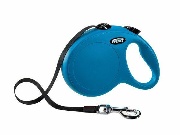Flexi New Classic L (riem 5m) blauw
