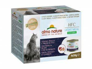 HFC Cats 4x50g Natural Megapack Tonijn ham kip