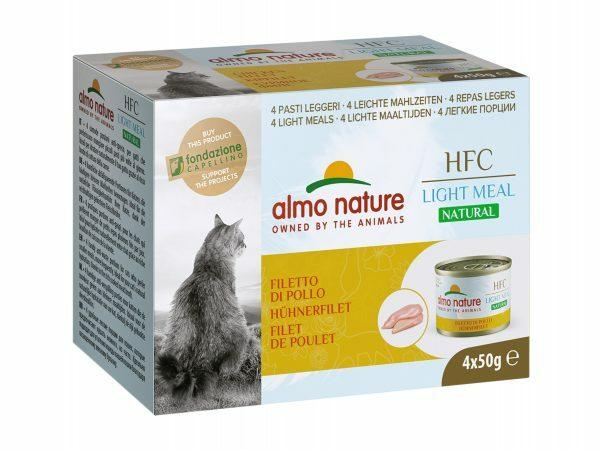HFC Cats 4x50g Natural Megapack Kipfilet