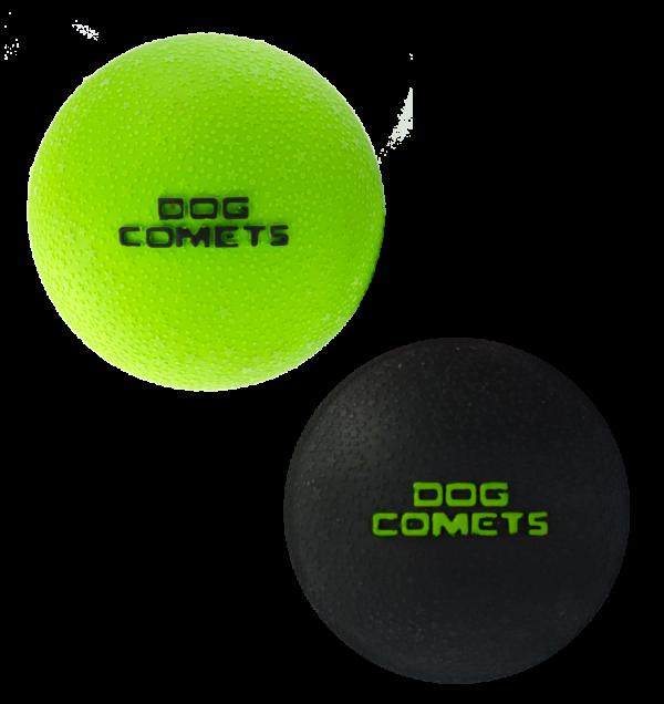 Dog Comets Ball Stardust Zwart/Groen S