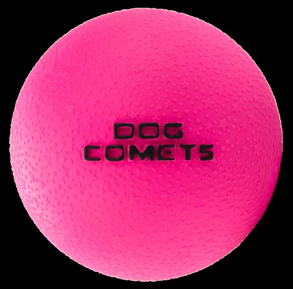 Dog Comets Ball Stardust Zwart/Roze S