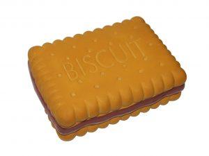 Speelgoed hond latex biscuit bruin 16cm