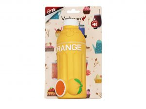 Speelgoed hond latex fles Orange 17,8 cm