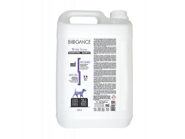 BIOGANCE hond witte vacht shampoo 5 L