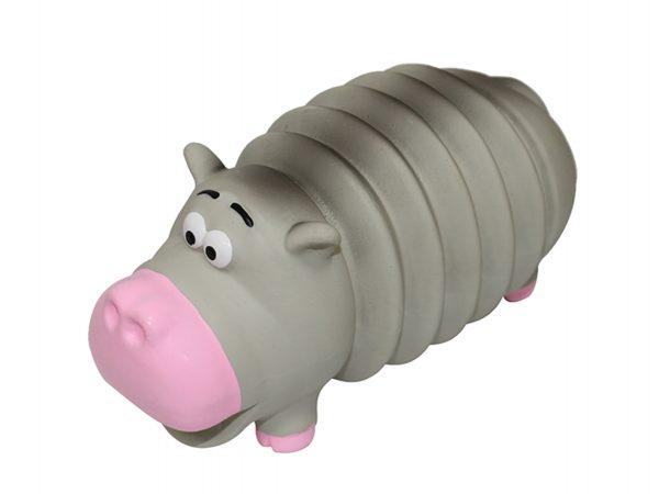 Speelgoed hond latex Hippo ribble 19,5cm