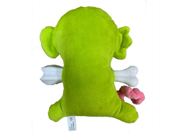 Speelgoed hond Scary aap met been 17,5cm