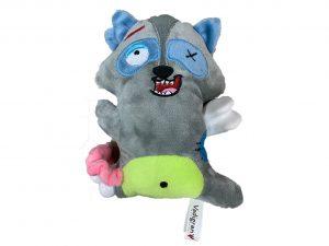 Speelgoed hond Scary wasbeer met been 17,5cm