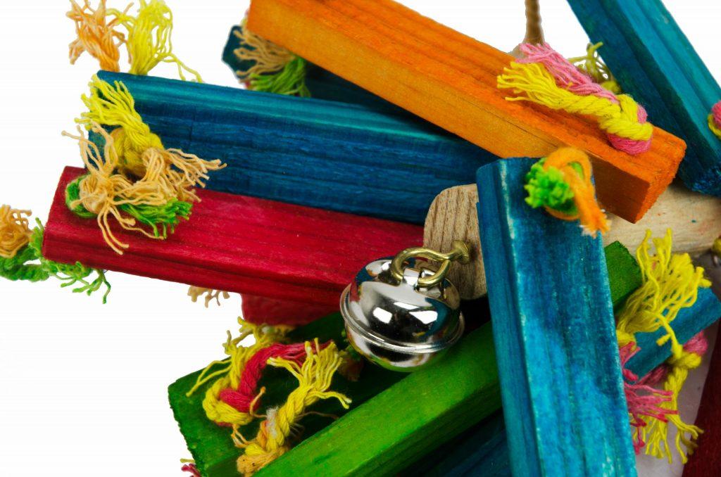 vogelspeelgoed voor papegaaien